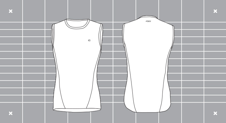 Mens Running Vest Custom Visual. Designed and manufactured by Enjoy.