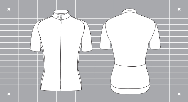 Men's Supremium cycle jersey template. Custom kit designed and manufactured by Enjoy