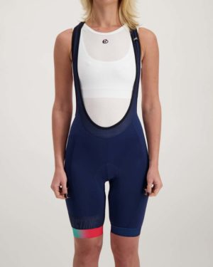 Ladies Miami Octane bibshort. Designed and manufactured by Enjoy.