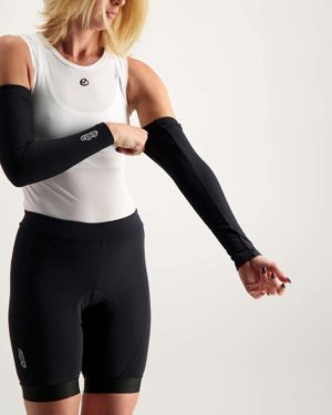 Ladies Mono winter arm warmers. Designed and manufactured by Enjoy.