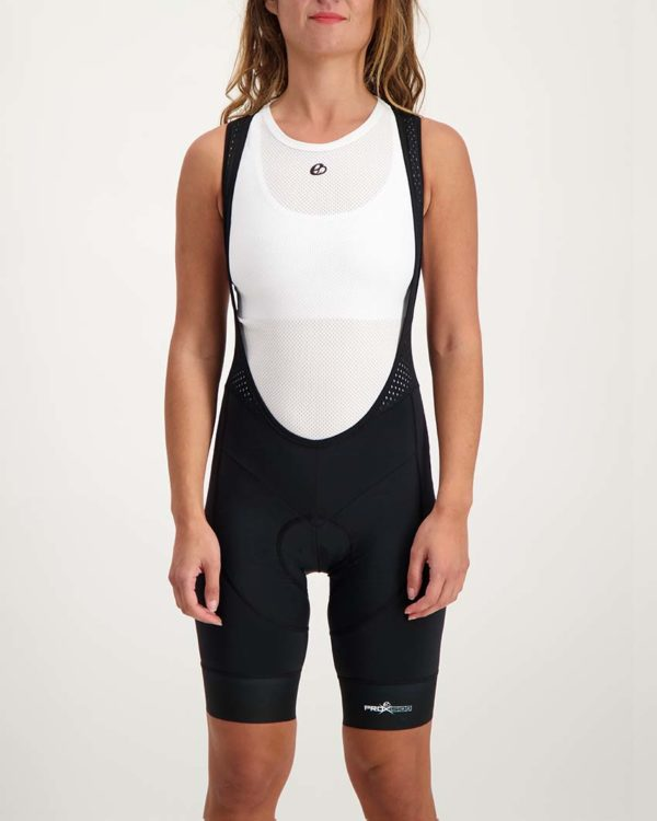 Ladies Mono ProXision bibshort. Designed and manufactured by Enjoy.
