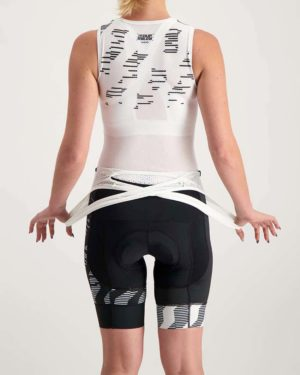 Ladies Outer Limit ProXision bibshort. Designed and manufactured by Enjoy.