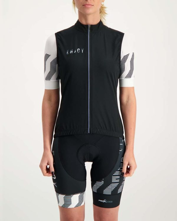 Ladies Outer Limit winter gilet. Designed and manufactured by Enjoy.
