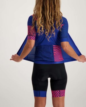 Ladies Prismatic ProXision cycle top. Designed and manufactured by Enjoy.