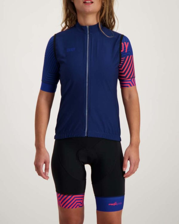 Ladies Prismatic winter gilet. Designed and manufactured by Enjoy.