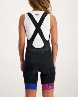 Ladies Prismatic ProXision bibshort. Designed and manufactured by Enjoy.