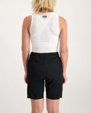 Ladies black Reptilia Trail short. Designed and manufactured by Enjoy.