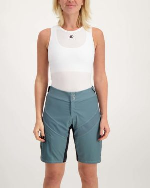 Ladies slate Reptilia Trail short. Designed and manufactured by Enjoy.
