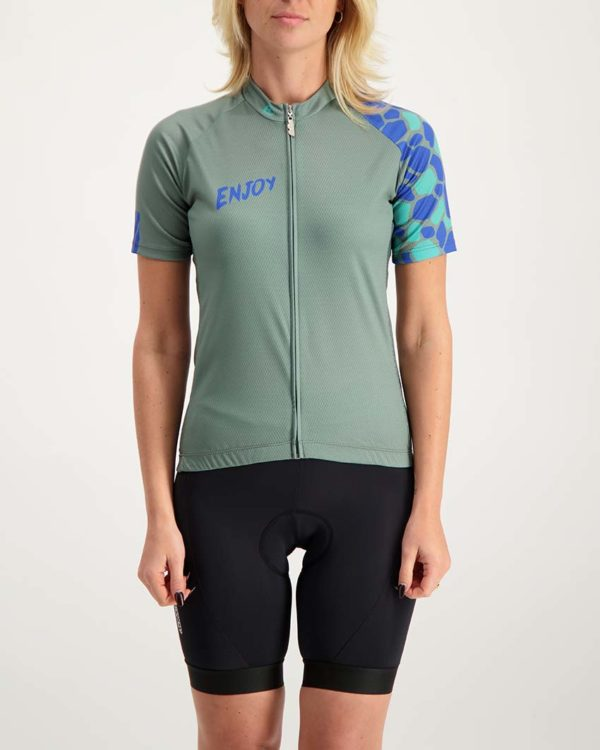Ladies Saffa Supremium cycle top. Designed and manufactured by Enjoy.