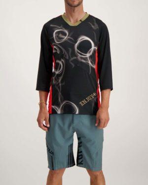 Mens Blaze Trails 3 quarter Enduro jersey. Designed and manufactured by Enjoy.