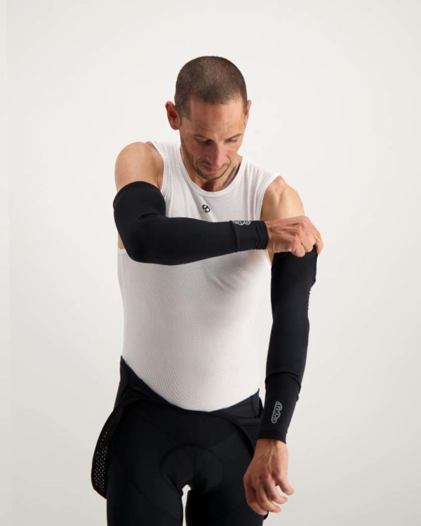 Mens Mono winter arm warmers. Designed and manufactured by Enjoy.