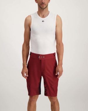 Mens Maroon Reptilia Enduro short. Designed and manufactured by Enjoy.