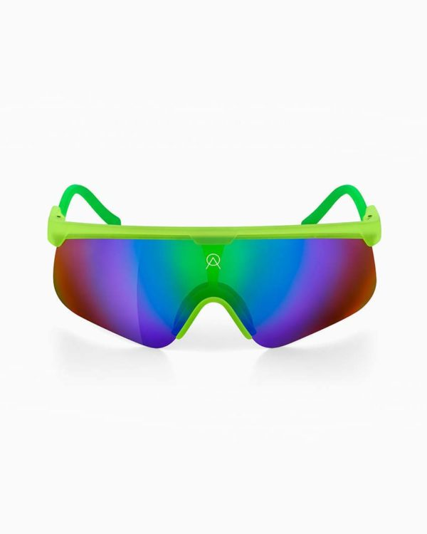 Delta lime green with mirror lenses by Alba Optics.