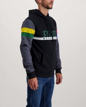 Saffa fleeced hoody. Designed and manufactured by Enjoy.