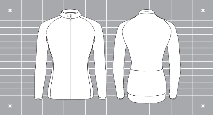 Ladies cocoon template. Custom kit designed and manufactured by Enjoy.