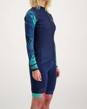 Ladies Miami Cocoon riding jersey. Designed and manufactured by Enjoy.