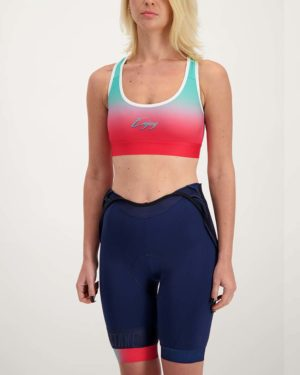 Ladies Miami sports bra. Designed and manufactured by Enjoy.