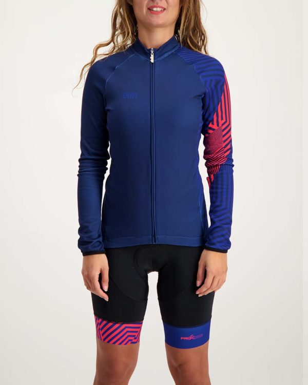Ladies Prismatic Cocoon riding jersey. Designed and manufactured by Enjoy.