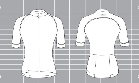 Ladies ProXision cycle top template. Designed and manufactured by Enjoy.