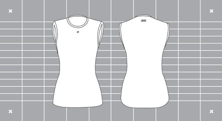 Ladies regulator baselayer template. Custom kit designed and manufactured by Enjoy.