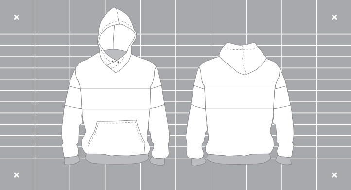Mens custom summer technical hoody. Designed and manufactured by Enjoy.