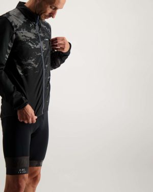 Mens Diffraction Rainiac waterproof riding jacket. Designed and manufactured by Enjoy.