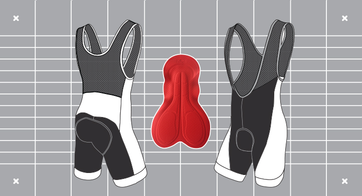 Men's Dual bibshort template. Custom kit designed and manufactured by Enjoy.