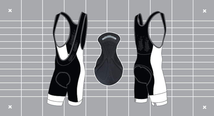 Men's Octane Bibshort template. Custom kit designed and manufactured by Enjoy.