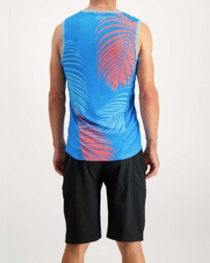 Mens Pool Party running vest. Designed and manufactured by Enjoy.