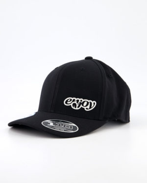 Enjoy Flexfit 110c black cap. Designed by Enjoy cycling clothing.