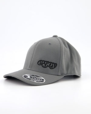 Enjoy Flexfit 110c grey cap. Designed by Enjoy cycling clothing.