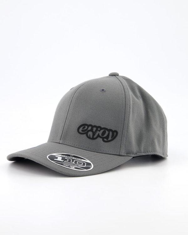 Enjoy Flexfit 110c grey cap. Designed by Enjoy cycling clothing.