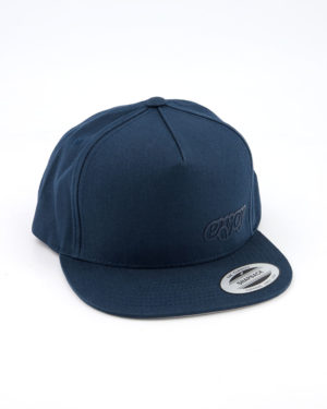 Enjoy blue snapback Flexfit cap. Designed by Enjoy cycling clothing.