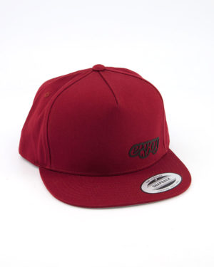 Enjoy red snapback Flexfit cap. Designed by Enjoy cycling clothing.