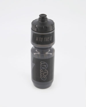 Enjoy H2O black water bottle. Designed by Enjoy. Manufactured by Purist.