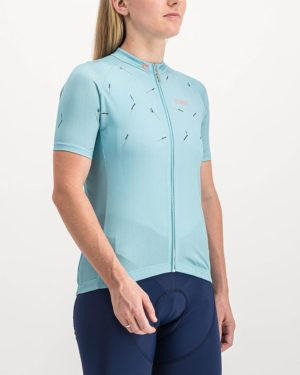 Ladies Bad Student ricky blue coloured Supremium Cycle Top. Designed and manufactured by Enjoy cycling apparel.