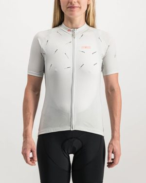 Ladies Bad Student wash white coloured Supremium Cycle Top. Designed and manufactured by Enjoy cycling apparel.