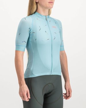 Ladies Bad Student ricky blue coloured ProXision Cycle Top. Designed and manufactured by Enjoy cycling apparel.