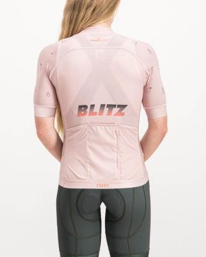Ladies Blitz ProXision Cycle Top. Designed and manufactured by Enjoy cycling apparel.