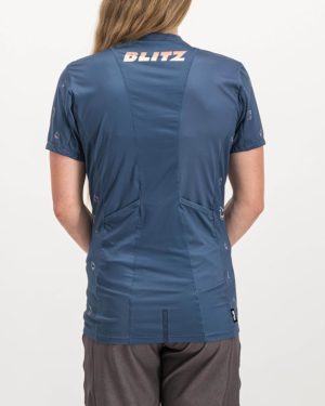 Ladies Blitz Enduro Trail Tee Shirt. Designed and manufactured by Enjoy cycling apparel.