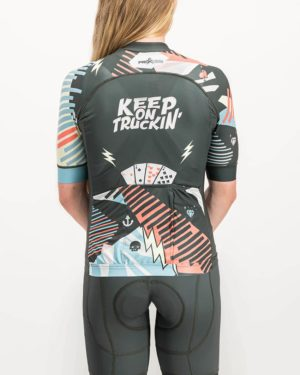 Ladies Keep On Truckin ProXision Cycle Top. Designed and manufactured by Enjoy cycling apparel.