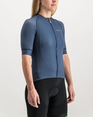 Ladies Navy coloured ProXision Cycle Top. Designed and manufactured by Enjoy cycling apparel.
