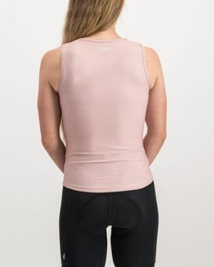 Ladies Semester Rose Coloured Regulator Vest. Designed and manufactured by Enjoy cycling apparel.