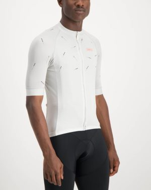 Mens Bad Student white coloured ProXision Cycle Top. Designed and manufactured by Enjoy cycling apparel.