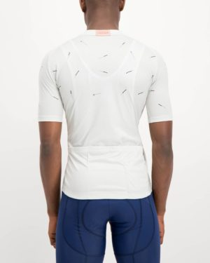 Mens Bad Student white coloured Supremium Cycle Top. Designed and manufactured by Enjoy cycling apparel.
