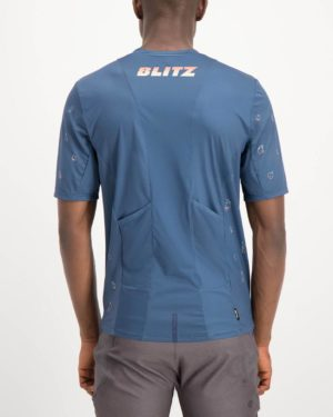 Mens Blitz Reptilia Trail Tee Shirt. Designed and manufactured by Enjoy cycling apparel.