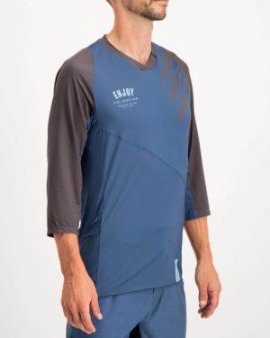 Mens Bunk Reptilia Enduro 3 quarter sleeve Shirt. Designed and manufactured by Enjoy cycling apparel.