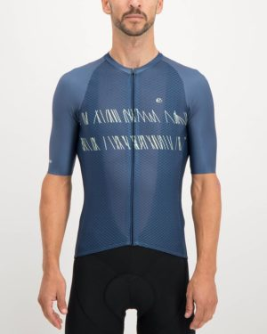Mens Carter navy coloured Climber Cycle Top. Designed and manufactured by Enjoy cycling apparel.
