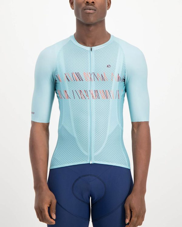 Mens Carter Climber Cycling Shirt. The Climber range of cycling shirts by Enjoy are shaved of anything excess so expect tight fitting minimalist cuts that are engineered for flat out racing.