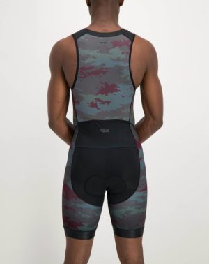 Mens Diffraction Escape Tri Suit. Designed and manufactured by Enjoy cycling apparel.